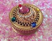 Sailor Moon brooch trinket box crystal filigree