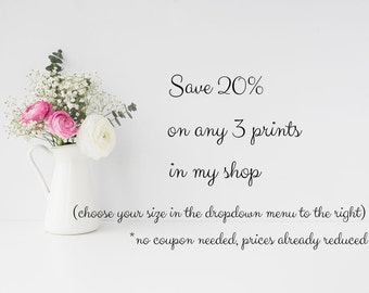 Fine Art Photography - Sale Discount Photo Set 20% Print Set Customize Personalize You Choose Art Prints Mix and Match Photo Make Your Own