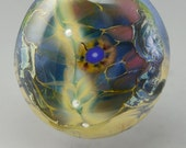 Lightning Strike ... glass CABOCHON artsy organic lampwork jewelry designer cabs  by GrowingEdgeGlass/ Mikelene Reusse