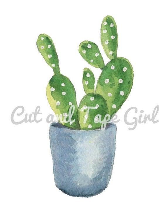 Basket Weaving Supplies Toronto : Cactus watercolor clip art hand drawn clipart digital