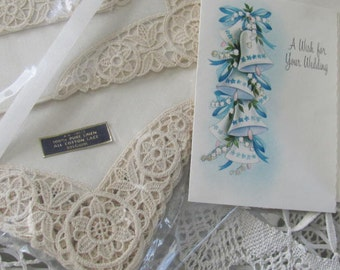 Wow...LOwered Price...Unbelievable Set of 8 New Irish Linen Napkins and Placemats, Very Old
