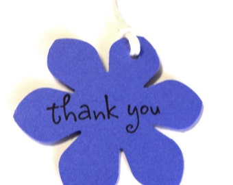 26 Tags, Gift Tags, Thank You, Merchandise, Hang, Purple, Funky Flowers, Party Favor Tags