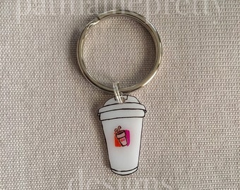 A Whole Latte Love Keychain Dunkin