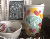 Monogram Decal for Starbucks Tumbler Mug Collection