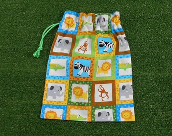 Animals small drawstring bag for gifts, toys, treasures, small gift bag for baby or toddler