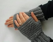 Special order Joy Gross Warm and Toasty Heather Grey unisex fingerless gloves