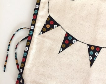 Sewing Machine Cover - Colorful Button Banner