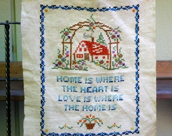 Motto Embroidery Sampler Needlework Cross Stitch,