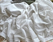 Lovely Vintage French Batiste Monogrammed Ruffled Edge Baby Duvet