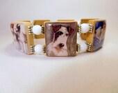 FOX TERRIER Scrabble Bracelet / Upcycled Handmade Jewelry / Dog Lover Gift / Wire Fox - 1
