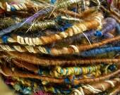 Handspun Corespun Bulky Party Art Yarn in SouthWest Colors by KnoxFarmFiber for Knit Crochet Weave Embellishment