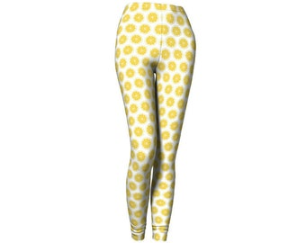 Yellow Limon Slices Leggings