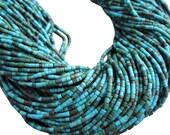 Turquoise Heishi, Turquoise Beads, Tiny Heishi, 2mm Heishi, Tiny tubes, SKU 1161