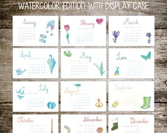 2017 Calendar, Gift for Her, Gift for Teacher, Secret Santa Gift, Stocking Stuffer for Her, Calendar, 2017 Calendar, Office Gift, Classroom