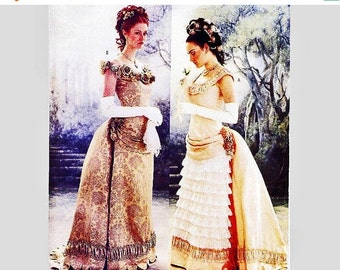 Sewing Pattern SALE Butterick Historical Pattern Victorian Ball Gown With Bustle Misses Size 6 8 10 Small UNCUT Victorian Dress and Bustle S