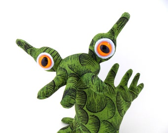 Alien Toy, Alien Plush, Stuffed Animal Alien Toy Monster by Adopt an Alien named Sabastian