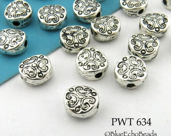 6mm Mini Pewter Spacer Beads Antique Silver (PWT 634) 25 pcs BlueEchoBeads