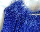 Little Girl Poncho. Sapphire Blue. Persian Blue. Navy Blue. Blue Bird. Royal. Cobalt. Eyelash Yarn. Knit Poncho. Knit Cape. Girls Poncho.