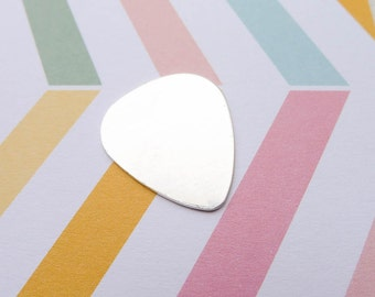 Sterling Silver Guitar Pick Blank 24 gauge Triangle for Personalization or Metal Stamping (BHSL167)