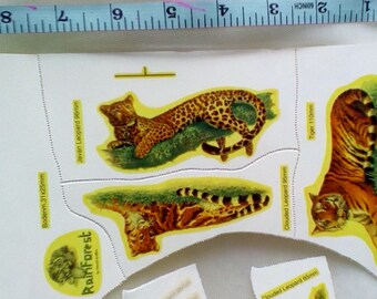 Ceramic Glass Decals Transfers Plate Rain Forest by David Griffin Tiger Leopard