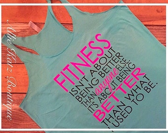 Racerback Workout women's tank Fitness Motivational
