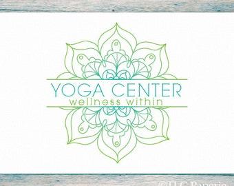 Mandala Logo Design, Custom Logo, Yoga Logo,  Soap Logo, Business Logo, Bohemian Logo, Watermark, Premade Logo, Flower Logo, Boho Logo