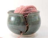 Hand Thrown Floating Blue Yarn Bowl