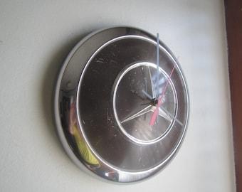 Vintage Mercedes Hubcap Clock no. 2428
