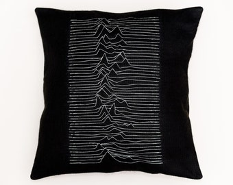 Joy Division ''Unknown Pleasures'' Cushion Cover.