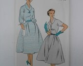 Vintage 50s Day or Evening Dress Pattern New York 1227 Size 16 Bust 34 UNCUT