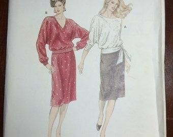 Kwik Sew sewing pattern 1351  separates - Top, Skirt,  sz 6, 8, 10, 12