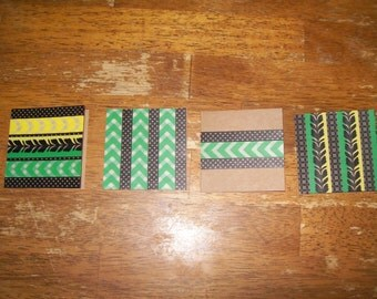 Set of 4 Handmade Blank 3x3 Notecards With Matching Envelopes
