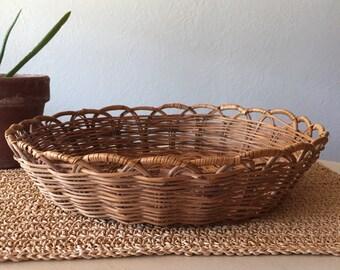 Thick Woven Circular Basket