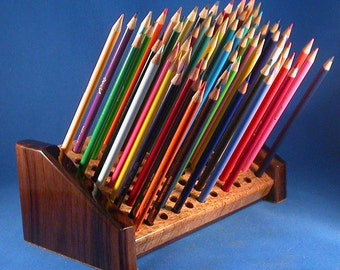 Artist Pencil Holder - Birds Eye Maple & Walnut - 95 Pencils - CLOSE OUT