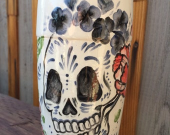 Dia de Los Muertos Travel Coffee mug / Ceramic sugar skull coffee mug