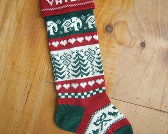 Personalized Christmas Stocking with an Elephant