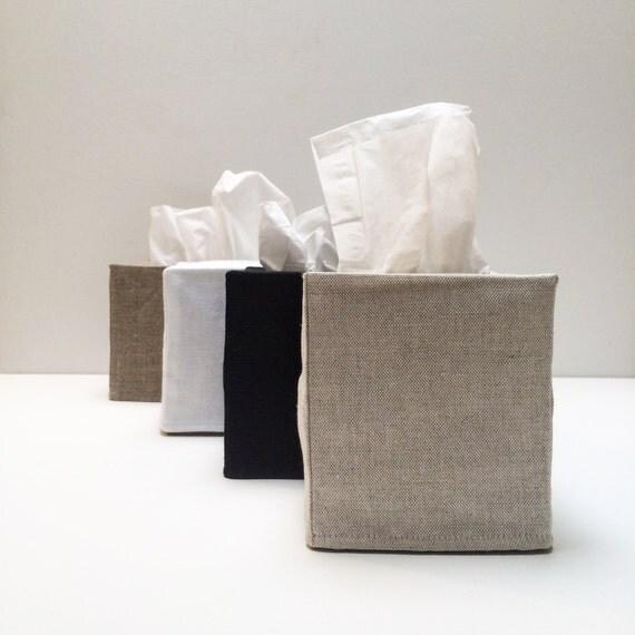 2 linen tissue covers