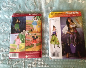 PLUS SIZe COSTUME PATTERNS  women's Wizard of Oz Dorothy Gypsy Witch & more choose one
