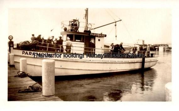 Paramount fishing boat found photo art mixed media collage for Paramount fishing boat
