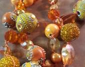 Orange Slice Knotted Necklace
