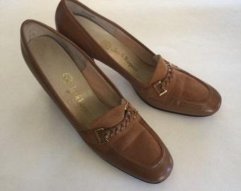 Vintage 1970s Jack Rogers Bridle Pump Shoes 7.5