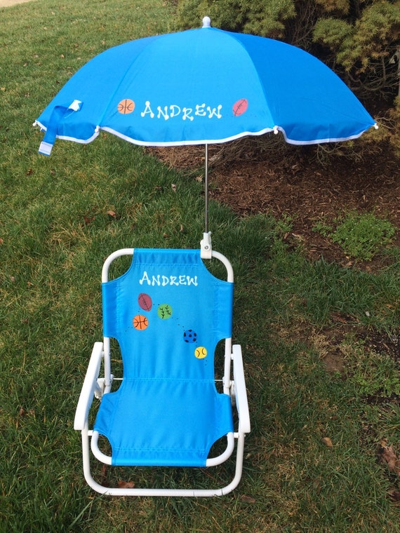 toddler beach chair with umbrella personalized 1