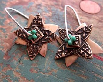 Brass Spinner Earrings