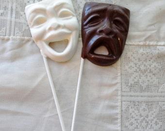 Chocolate Comedy Tragedy  Mask Lollipops Drama Theatre