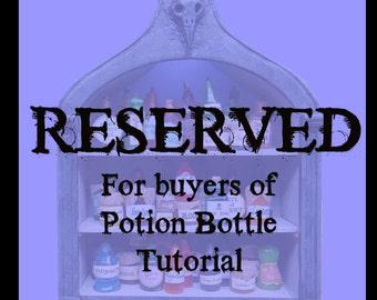 RESERVED - Bottles for Potion Tutorial - SET of 5