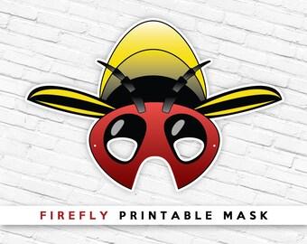 FireFly Mask | Lightning Bug Mask | Photo Prop | Bug Mask | Summer