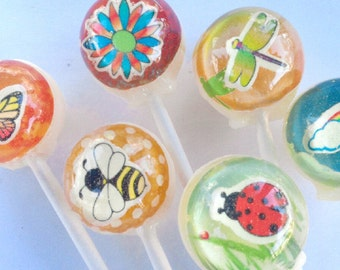 3D first day of spring lollipops by Vintage Confections