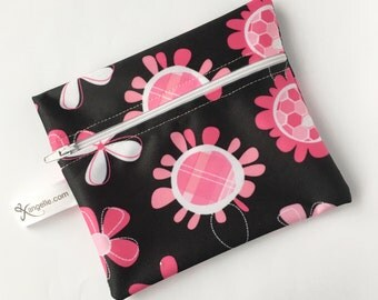 Medium Pink Flowers Reusable Bag