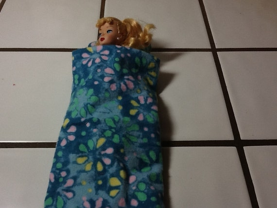 Barbie sleeping bag and pillow