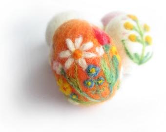 Easter Egg,Felted Easter egg,Spring Ornament,needle felted ornament,Easter